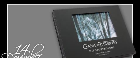"""Game of Thrones-Fans aufgepasst!  - Hinter unserem vierzehnten Türchen verlosen wir das Artbook """"Game of Thrones – Die Storyboards"""", zur Verfügung gestellt von Zauberfeder."""
