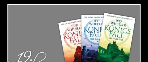 Leseratten aufgepasst!  - Hinter unserem neunzehnten Türchen verlosen wir die gesamte, dreibändige Königsfall Trilogie von Jeff Wheeler, zur Verfügung gestellt von Heyne.