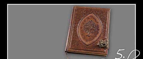 Für Dichter und Tintenklekser!  - Hinter dem 5. Türchen gibt es heute ein mit Leder bezogenes Buch zu gewinnen, zur Verfügung gestellt vom Ritterladen.