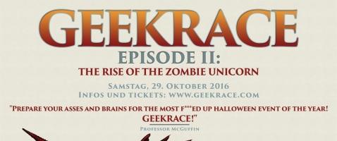 GeekRace - Professor gegen Zombie-Einhorn