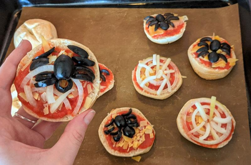 Spinnen-Pizzen