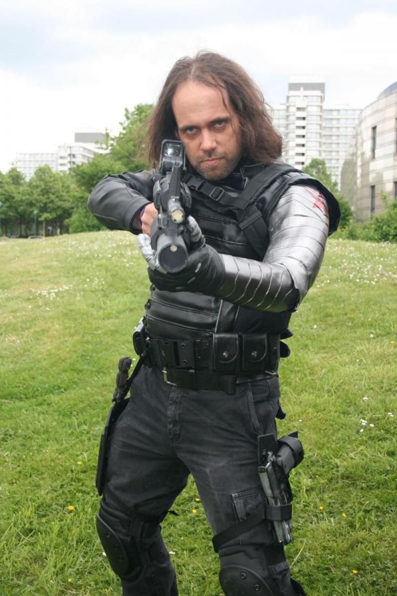 Ein gruselig echt wirkender Bucky, der Winter Soldier