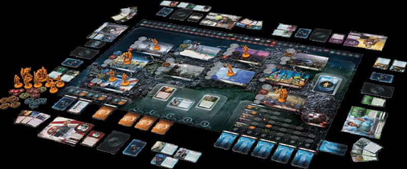 Der Spielplan ist übersichtlich aufbereitet, das Material hochwertig. Quelle: Fantasy Flight Games