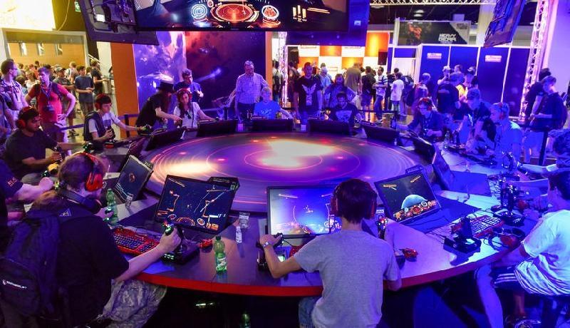 Elite: Dangerous bei der Gamescon – Foto: Koelnmesse