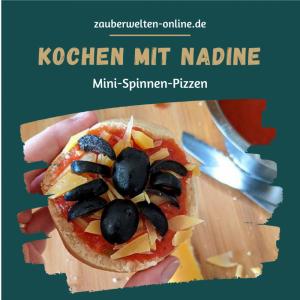 Halloween-Kochbuch: Mini-Spinnenpizzen - Halloween ohne Spinnen ist kein Halloween