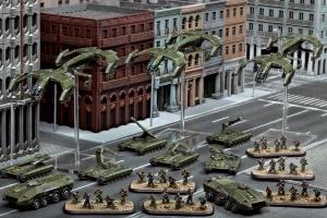 Eine Streitmacht der United Colonies of Mankind (UCM), wie sie im Starter Set enthalten ist.